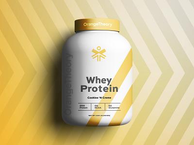 OrangeTheory Packaging sinew wiens brian brain health person head figure man fitness whey rebrand brand yellow botttle protein packaging theory orange