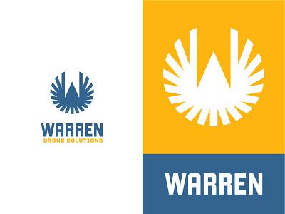 Warren Drone Solutions quadcopter blue yellow flight symbol brand circle airplane w shoot video technology tech bird drone