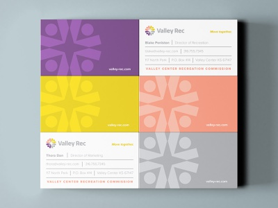 Valley Rec Business Cards brain sinew brian wiens v lifestyle healthy human compass fitness community man logo
