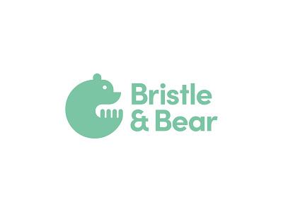 Bristle & Bear sinew brain kansas wiens nomeclature salon hair salon hair bristle bear logo