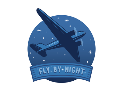 Fly by Night lyons fly by night stars night sky air travel flight vintage plane vintage flying airplane