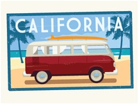 Lyons Dribbble California Luggage Sticker