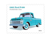 Lyons Dribbble USPS  65 Ford F 100 Stamp
