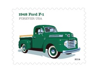 Lyons Dribbble Usps  48 Ford F 1 Stamp