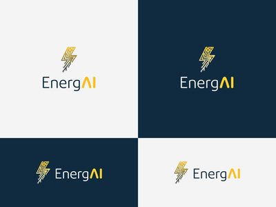EnergAI artificial intelligence ai energy logotype vector branding design logo