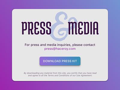 Press Page - 051 dailyui 051 kit download media press