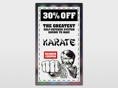 Redeem Coupon - 061 redeem coupon dailyui 061 old vintage karate coupon