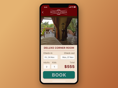 Hotel Booking - 067 hotel california ui dailyui 067 booking hotel
