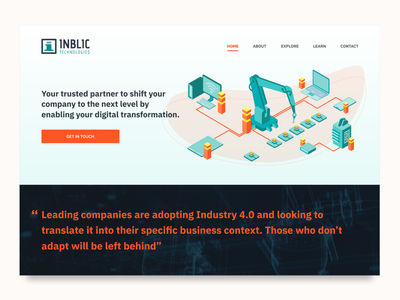 Inblic Homepage website home industry 4.0