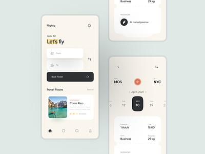 Flighty App UI Design minimal website web ux ui flat design clean app