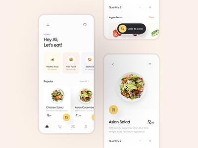 Foodly typography minimal ux ui design clean app