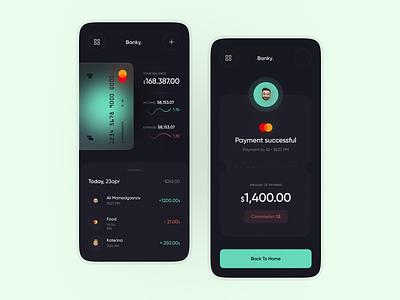 Banky   Mobile App UI clean app ux design minimal mobi