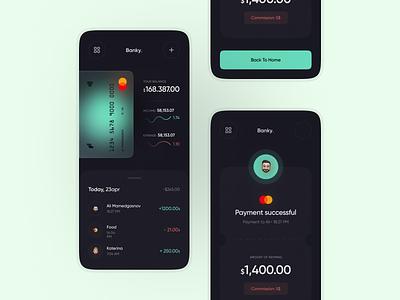 Banky | Mobile App UI clean app ux design minimal mobi