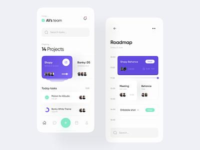 Tasky | Mobile App ui web minimal design ux clean app