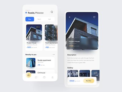 Housy   Real Estate App web ui minimal design ux clean app