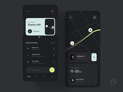 Shipping App web ux minimal design clean app ui