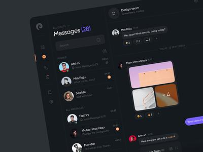 Chaty – Team Chat Dashboard clean app ui minimal design