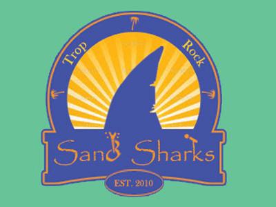 Sand Sharks band logo logo shark band type logotype
