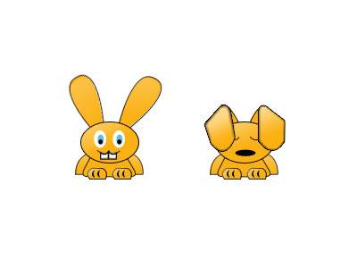 Bunnies icons bunnies kids navigation fun