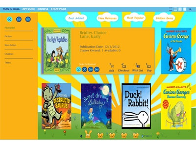 Child themed website for checking out books theme website shopping icon logo fun cartoon playful