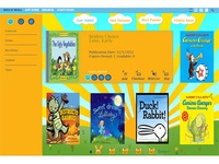 Child themed website for checking out books