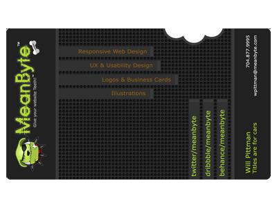 Business card for MeanByte.com branding logo card business