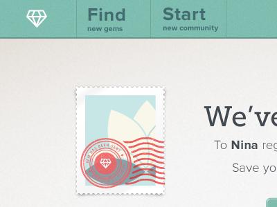 Gemshare Stamp landing page gemshare