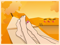 Illustration for fungal nail infections test