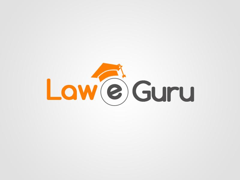 Logo for Law eGuru law graphic design logo e-learning aayushman gupta