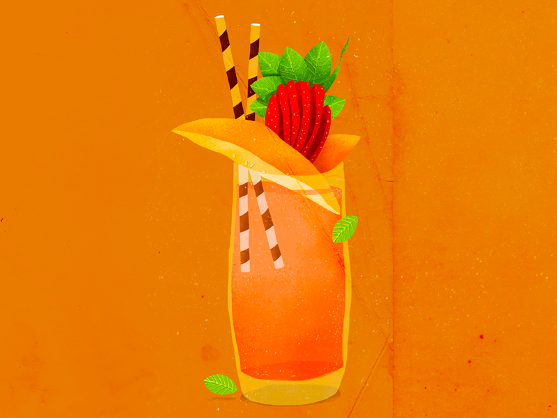 Drinks lattice art photoshop travel magazine editorial illustration