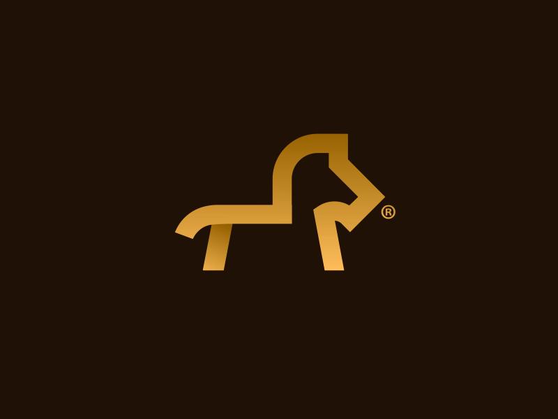 Horse Inc. design brand horse typo logo branding