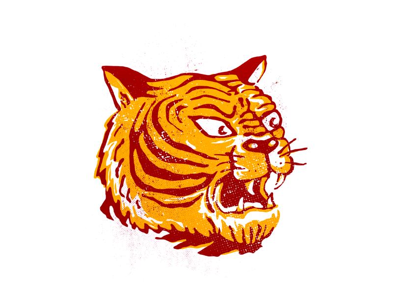 Tiger Tattoo illustration wild inc tattoo tiger