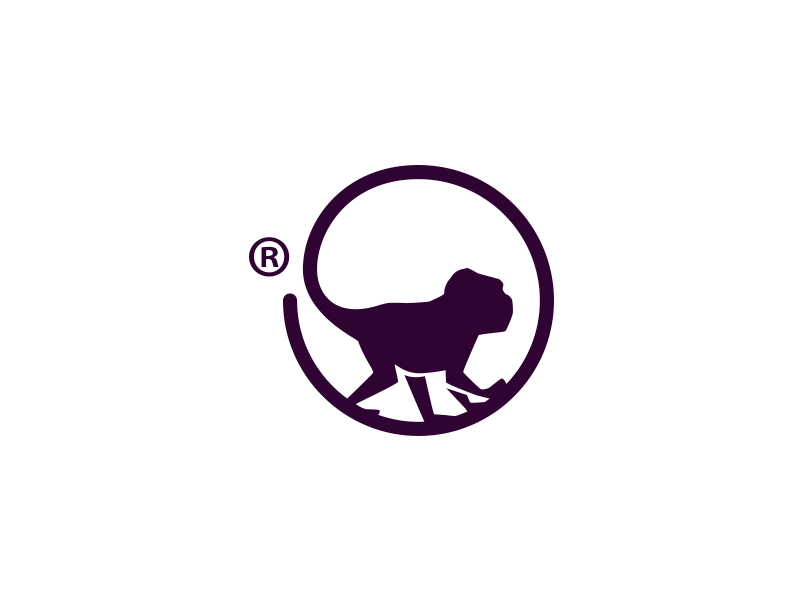 Titea® monkey tea color organic typography branding logo