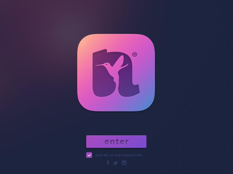 Natoure® logotype letters bird color branding brand design web app icon logo
