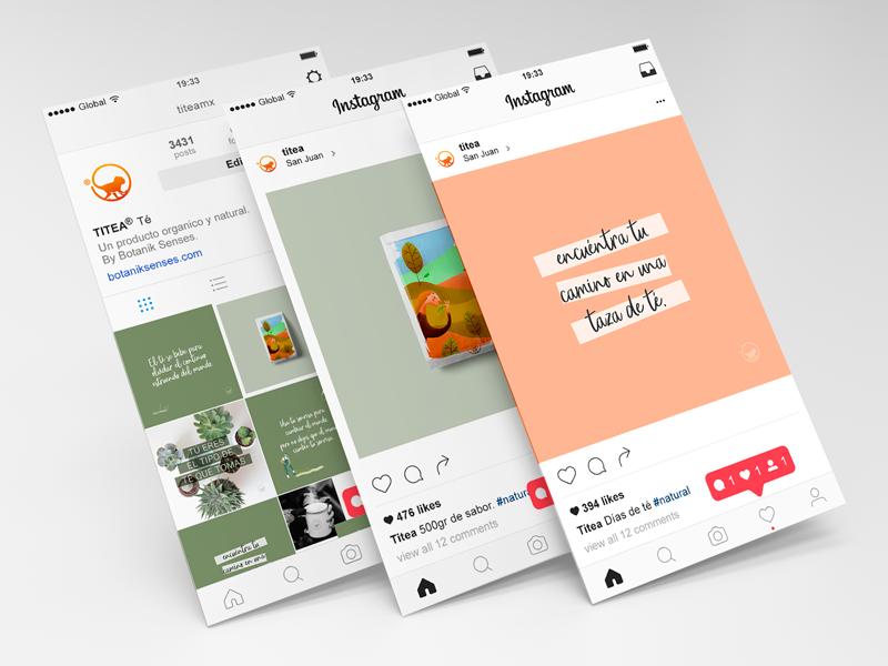 TITEA® Social tea color instagram design digital social media graphic design