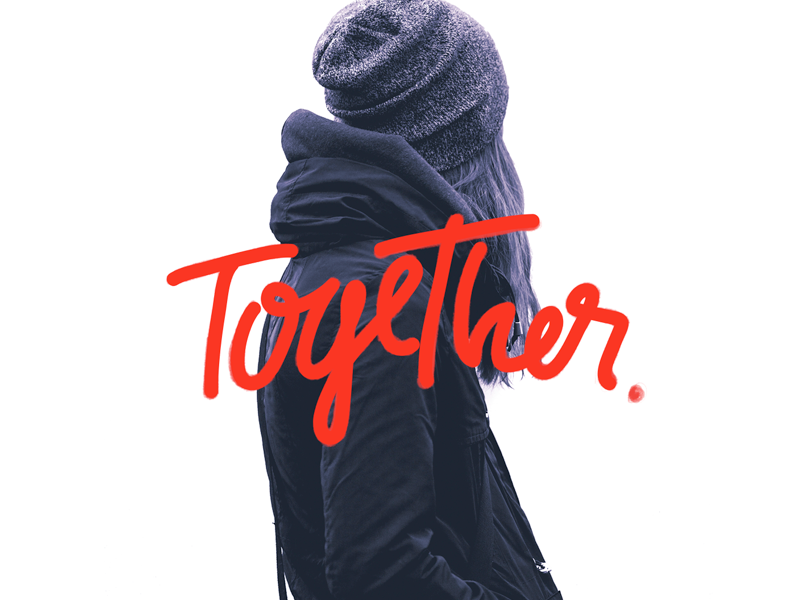 Together. lettering typography branding brands icons logotype logo