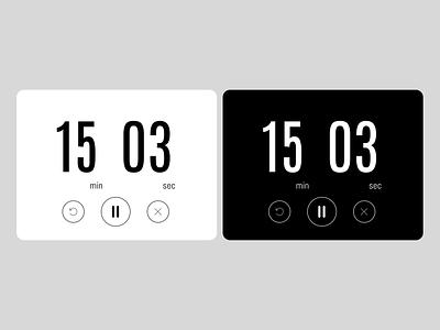 Countdown Timer - day014 time timer app countdown blackandwhite countdown timer countdowntimer timer daily ui 014 design uidesign ui figma dailyuichallenge daily ui dailyui