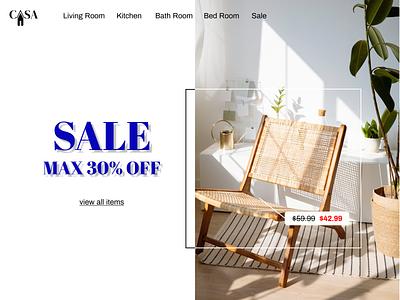 Landing Page navigation sale furniture dailyuichallenge dailyui design webdesign website landing page landingpage desktop figma interior