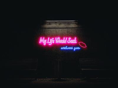 Typographic design music graphic design neon design weekly warm-up typography design typography lyrics song lyrics warm-up warmup