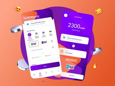 💵 Send & Receive Money 🤑 |  Banking App finance collecting financial bank cash money send design sketch free freebies