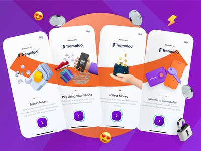 💵 Onboarding Experience | Banking App illustration mobile freebie free freebies sketch bank