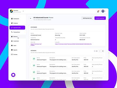 Payments Link Details | Payments Processing Platform