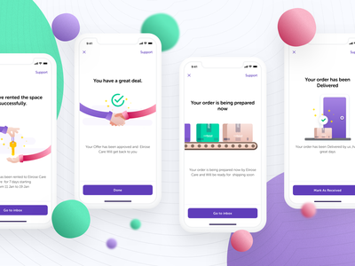 Flash Message (Success) illustrations - Popup Shops Platform flash message message sketch freebie ui ios mobile ecommerce store pop shop illustrations flat delivery rental purchase purchase order collaboration clean brand owner