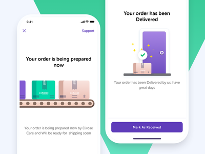 Delivery state illustrations - Popup Shops Platform brand owner clean collaboration purchase order purchase rental delivery flat illustrations pop shop store ecommerce mobile ios ui freebie sketch message flash message