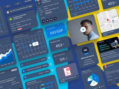 ChatBot Components - Dark decisions action map time audio record meeting ios sketch chatbot chat mobile freebie free
