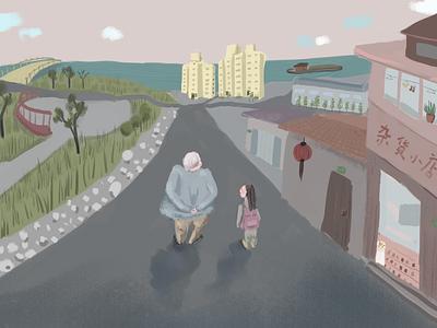 Grandma and Me illustration