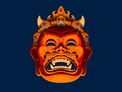 Mukut nepali illustrator nepalese masks mask bhairab kreative kira nepal illustration