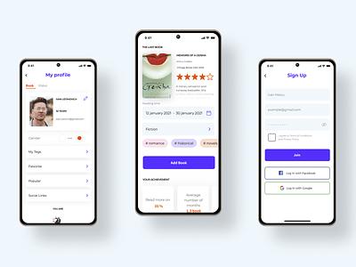 Mobile application project. UI/UX illustration minimal product design concept ux web ui design