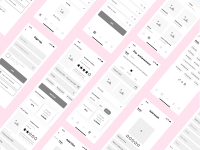 Wireframes of mobile app product design concept vector illustration web ux ui design