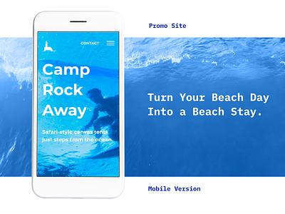 Promo Site (Mobile Version) for the basecamp promosite mobile concept designer uiux design web-design ui ux design web